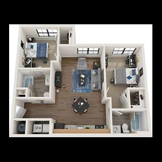 2-Bed Floorplans