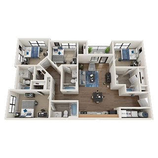 4-Bed Floorplans