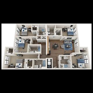 5-Bed Floorplans